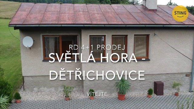 Rodinný dům na prodej, Světlá Hora / Dětřichovice