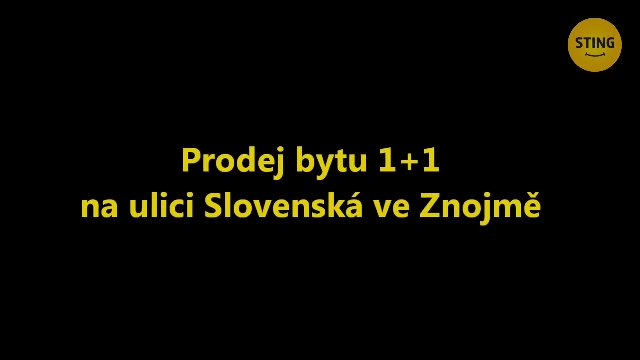 Byt 1+1 na prodej, Znojmo / Slovenská